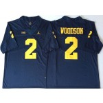 Michigan Wolverines Blue #2 WOODSON