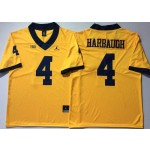 Michigan Wolverines YELLOW #4 HARBAUGH