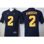 Youth Michigan Wolverines Woodson #2 Blue  jersey