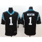 NFL Carolina Panthers Cam Newton #1 black Vapor Untouchable Limited Jersey