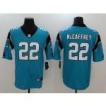NFL Carolina Panthers McCaffrey #22 blue Vapor Untouchable Limited Jersey