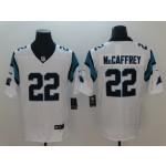 NFL Carolina Panthers McCaffrey #22 white Vapor Untouchable Limited Jersey