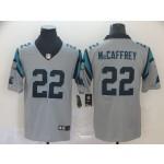 NFL Carolina Panthers McCaffrey #22 Grey Inverted Legend Jersey