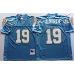 NFL San Diego Chargers Lance Alworth #19 light blue throwback Jersey