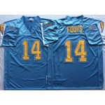 NFL San Diego Chargers Dan Fouts #14 light blue throwback Jersey