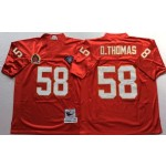 NFL Kansas City Chiefs D.Thomas #58 Red Throwback Jersey