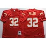 NFL Kansas City Chiefs Marcus Allen #32 Red Throwback Jersey