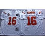 NFL Kansas City Chiefs Len Dawson #16 White Throwback Jersey