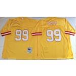 NFL Tampa Bay Buccaneers Warren Sapp #99 Gold Throwback Jersey