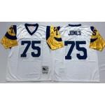 NFL St.Louis Rams Deacon Jones #75 white Throwback Jersey