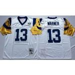 NFL St.Louis Rams Kurt Warner #13 White Throwback Jersey