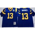NFL St.Louis Rams Kurt Warner #13 blue Throwback Jersey