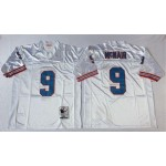 NFL Houston Oilers Steve McNair #9 White Throwback Jersey