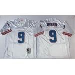 NFL Houston Oilers Steve McNair #9 White Throwback Jersey