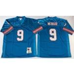 NFL Houston Oilers Steve McNair #9 blue Throwback Jersey