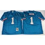 NFL Houston Oilers Warren Moon #1 blue Throwback Jersey