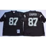 NFL Oakland Raiders Dave Casper #87 Black Throwback Jersey