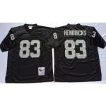 -NFL Oakland Raiders Ted Hendricks #83 Black Throwback Jersey