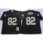 NFL Oakland Raiders Al Davis #82 Black Throwback Jersey