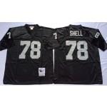 NFL Oakland Raiders Art Shell #78 Black Throwback Jersey