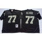NFL Oakland Raiders Lyle Alzado #77 Black Throwback Jersey