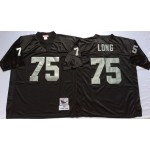 NFL Oakland Raiders Howie Long #75 Black Throwback Jersey