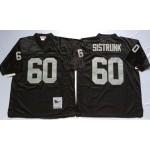 NFL Oakland Raiders Otis Sistrunk #60 Black Throwback Jersey