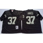 NFL Oakland Raiders Lester Hayes #37 Black Throwback Jersey