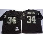 NFL Oakland Raiders Bo Jackson #34 Black Throwback Jersey
