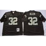 NFL Oakland Raiders Marcus Allen #32 Black Throwback Jersey
