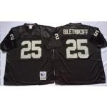 NFL Oakland Raiders Fred Biletnikoff #25 Black Throwback Jersey
