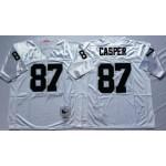 NFL Oakland Raiders Dave Casper #87 white Throwback Jersey