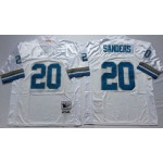 NFL Detroit Lions Barry Sanders #20 White Throwback Jersey
