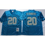 NFL Detroit Lions B.Sanders #20 Blue Throwback Jersey