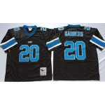 NFL Detroit Lions Barry Sanders #20 Black Throwback Jersey