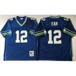 NFL Seattle Seahawks Fan #12 Blue Throwback Jersey