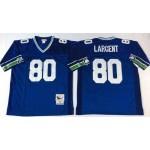 NFL Seattle Seahawks Steve Largent #80 Blue Throwback Jersey