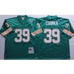 NFL Miami Dolphins Larry Csonka #39 Green Throwback jersey