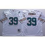 NFL Miami Dolphins Larry Csonka #39 White Throwback jersey