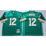 NFL Miami Dolphins Bob Griese #12 White Throwback jersey