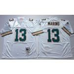 NFL Miami Dolphins Dan Marino #13 White Throwback jersey