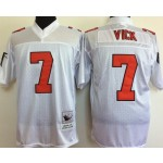 NFL Atlanta Falcons Michael Vick #7 White 1990 Throwback Jersey