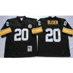 NFL Pittsburgh Steelers Rocky Bleier #20 Black Throwback Jersey