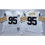 NFL Pittsburgh Steelers Greg Lloyd #95 White Throwback Jersey
