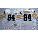 NFL Pittsburgh Steelers Antonio Brown #84 white Throwback Jersey
