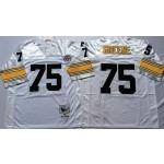 NFL Pittsburgh Steelers Joe Greene #75 White Throwback Jersey
