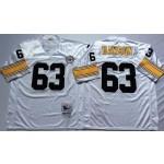 NFL Pittsburgh Steelers Dermontti Dawson #63 White Throwback Jersey
