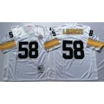 NFL Pittsburgh Steelers Jack Lambert #58 White Throwback Jersey