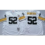 NFL Pittsburgh Steelers Mike Webster #52 White Throwback Jersey