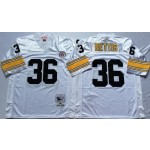NFL Pittsburgh Steelers Jerome Bettis #36 white Throwback Jersey